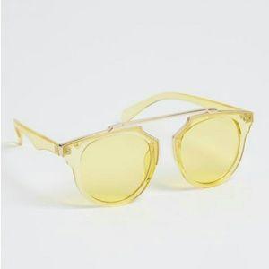 Glossy Yellow Browbar Sunglasses